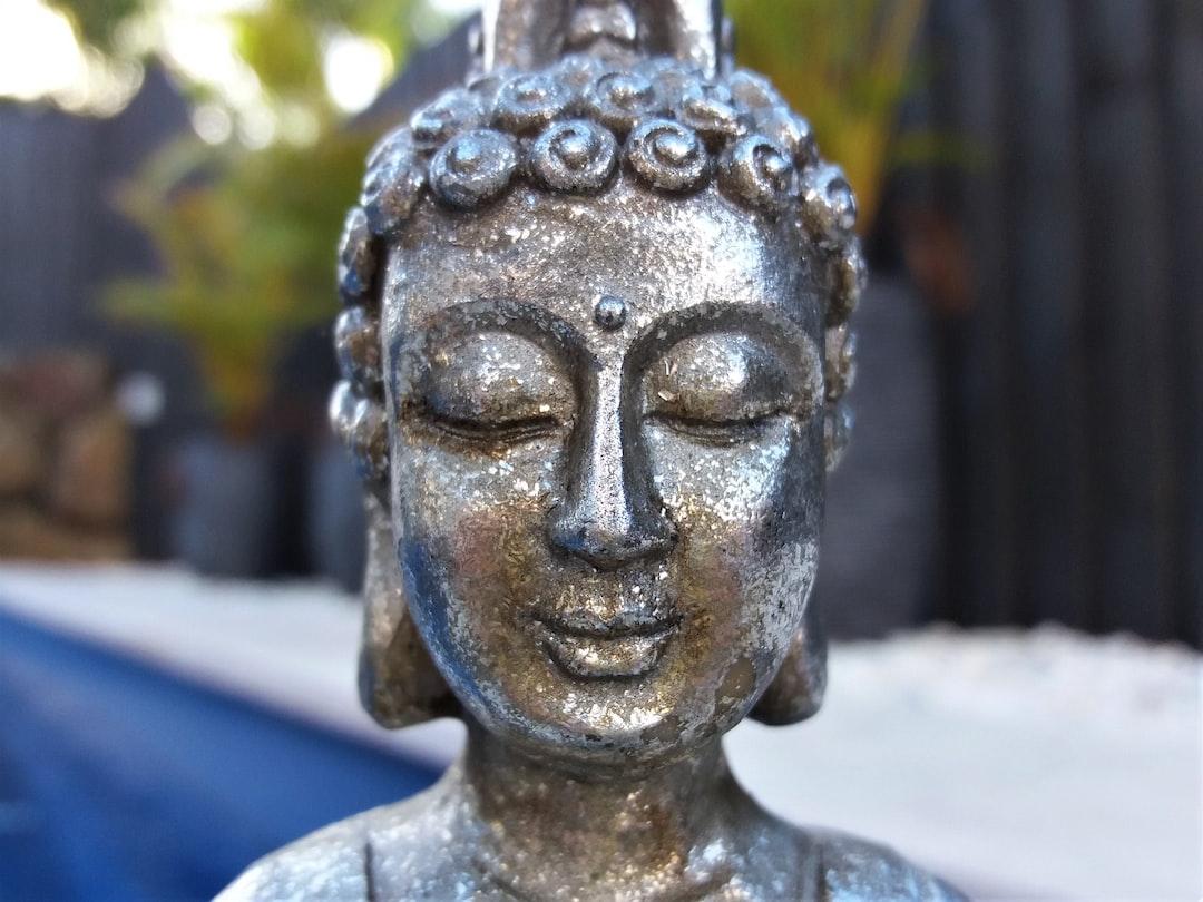 Peaceful meditation statue