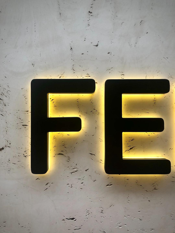 Fendi logo detail on marble