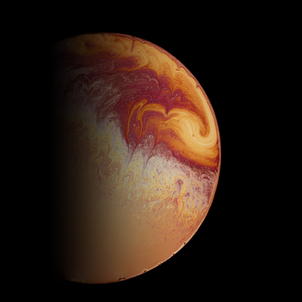 orange and yellow planet earth