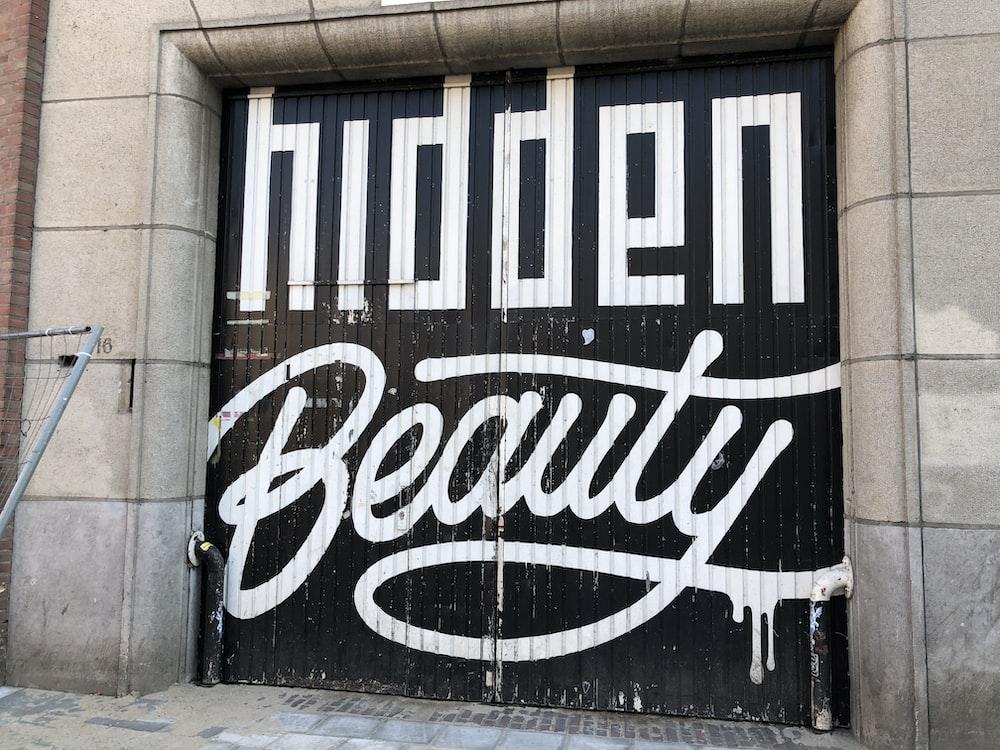black and white wall graffiti