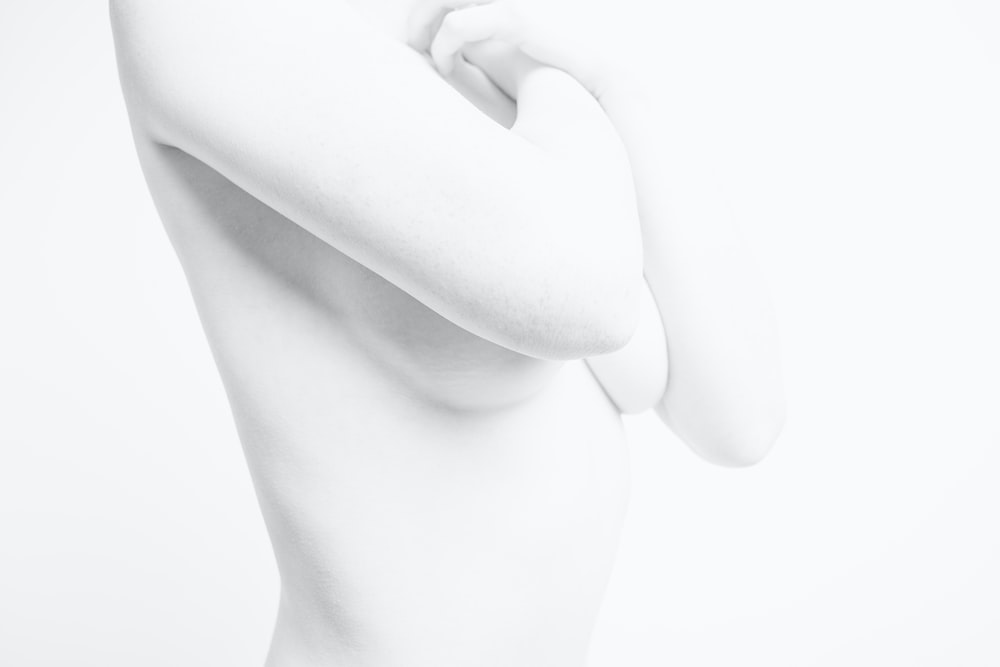 naked woman with white background