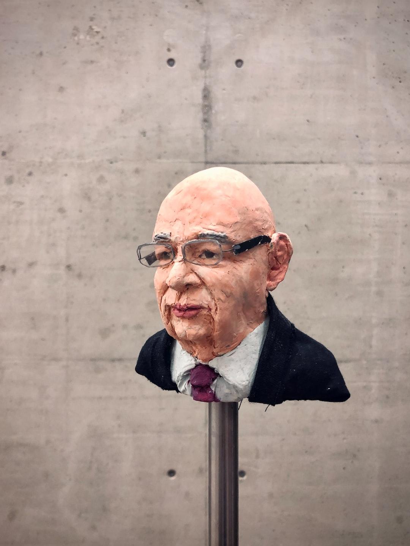 """Andreas Siekmann, Heads,  as seen in th exhibition """" … von Brot, Wein, Autos, Sicherheit und Frieden"""", Kunsthalle Wien, May 2020"""