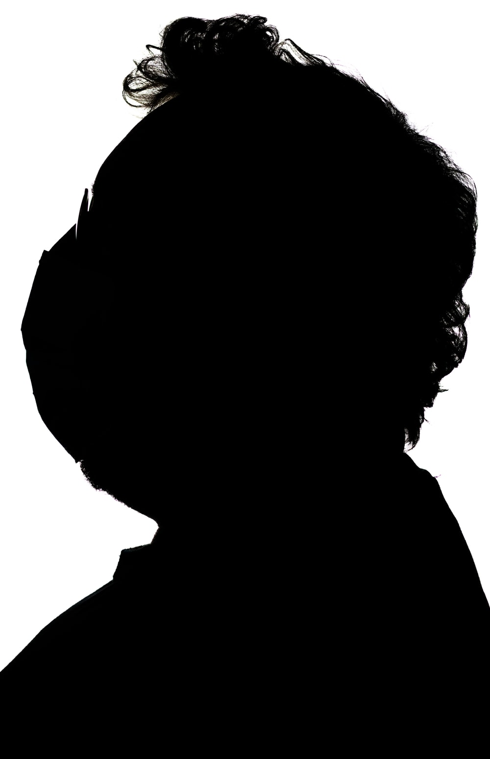silhouette of person with black hair