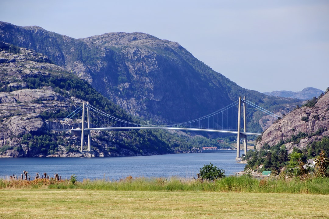 Bridge over famous Lysefjord in Norway.