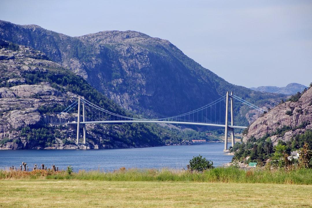 Bridge over famous Lysefjord in Norway.