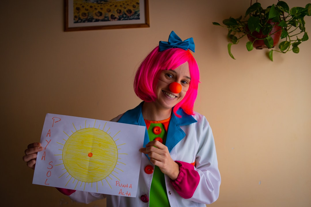 smile, doctor, clown, heal, medic, funny, healthy, smiling, hapiness