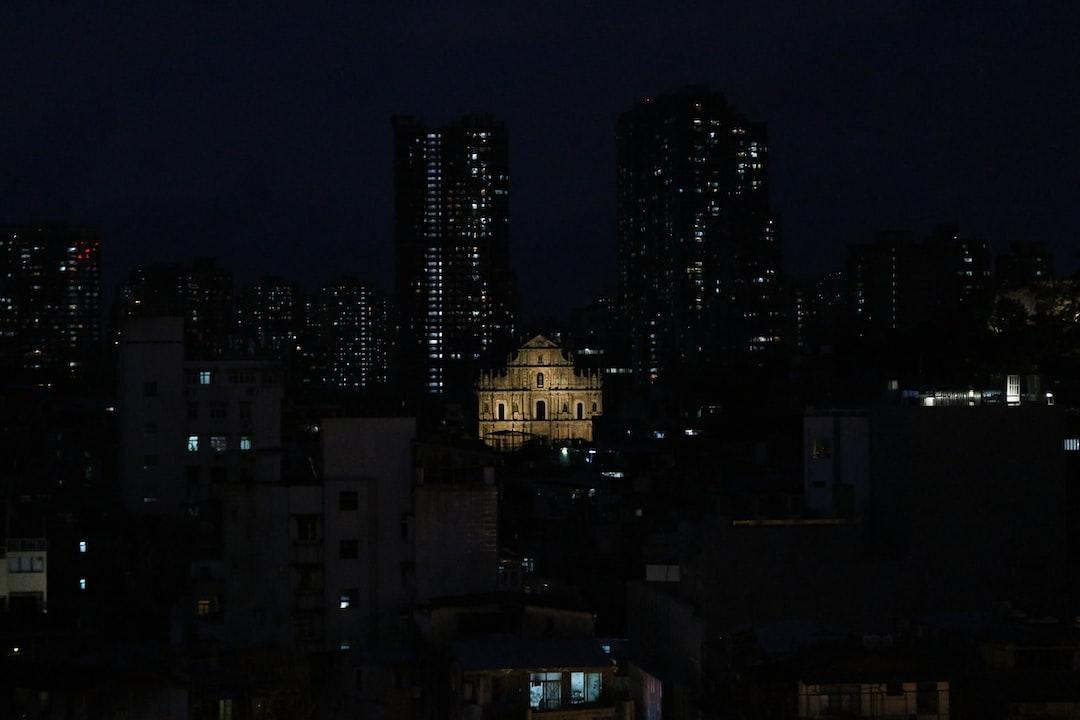 Macau's most iconic landmark, the Ruins of Saint Paul's by night