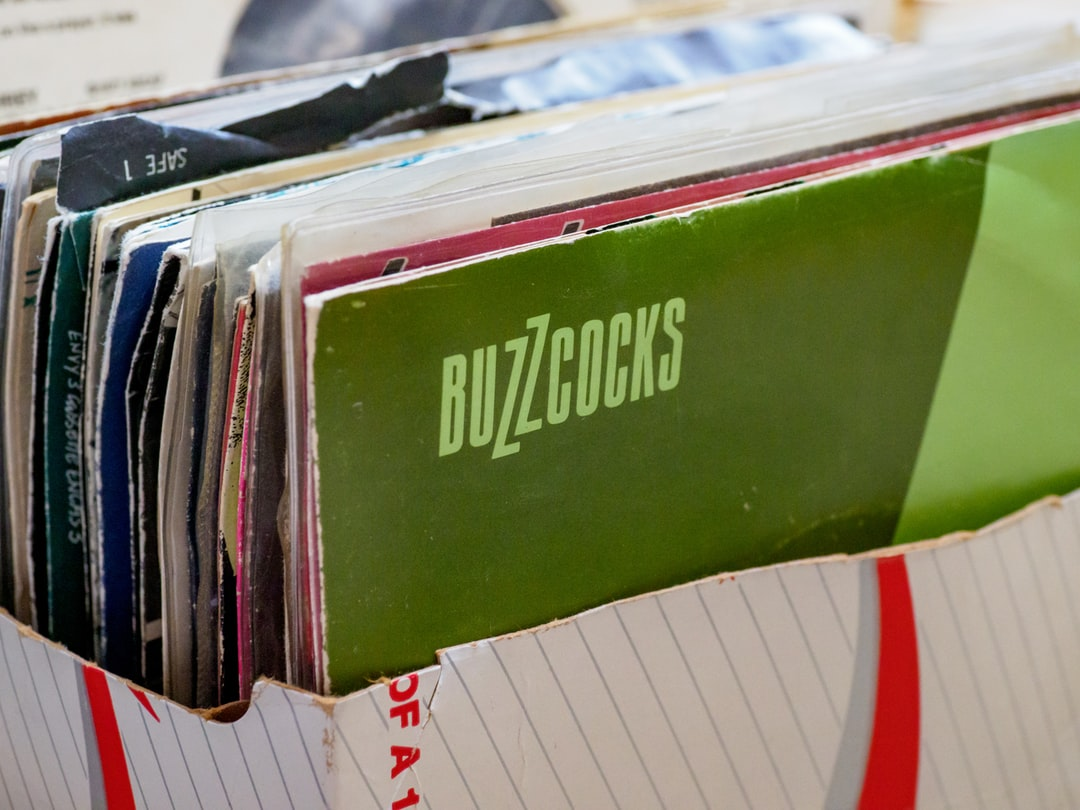 """close up, bokeh, macro, blur, blurred background, close focus, household items, single, vinyl, punk buzzcocks, 7"""" single, record collection,"""