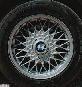 gray multi spoke wheel with tire
