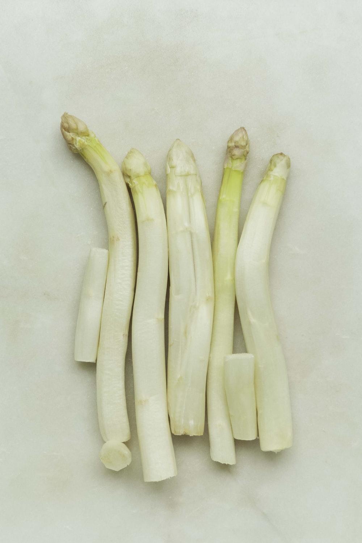 white and yellow banana peel