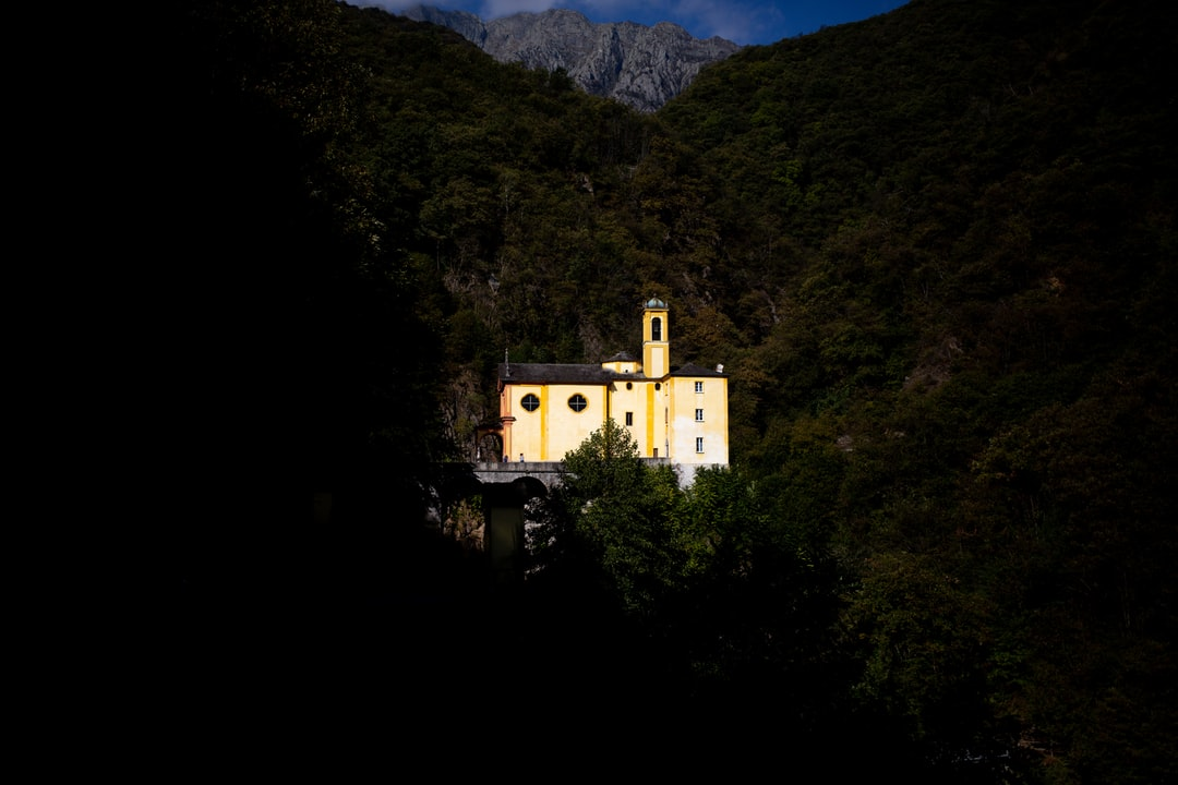 solid as a rock, madonna del sacro monte in beautiful switzerland.