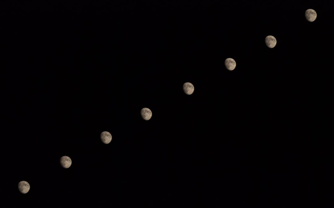 Moon multi exposure