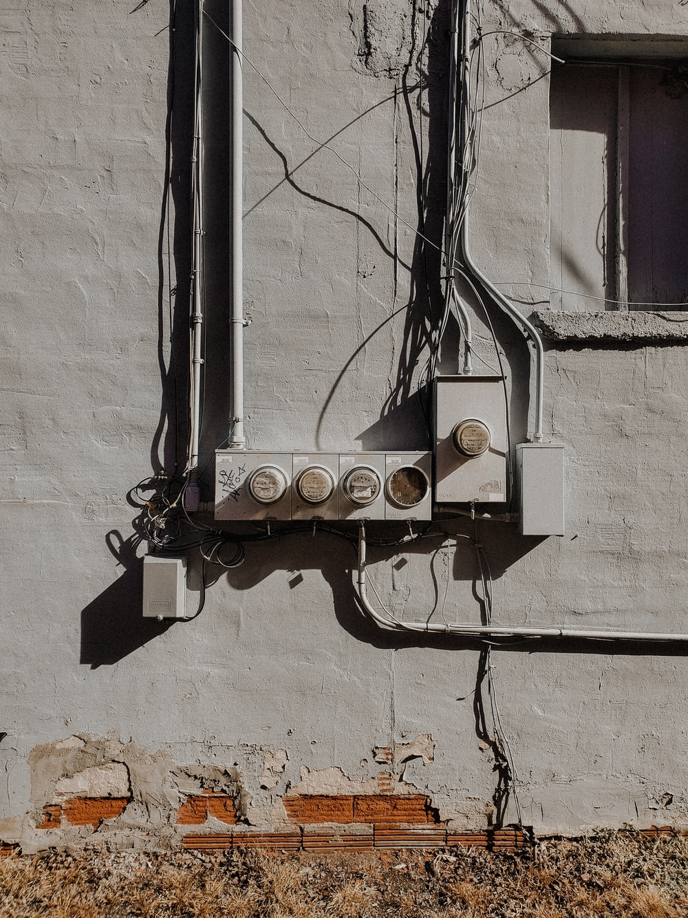 black and white electric switch
