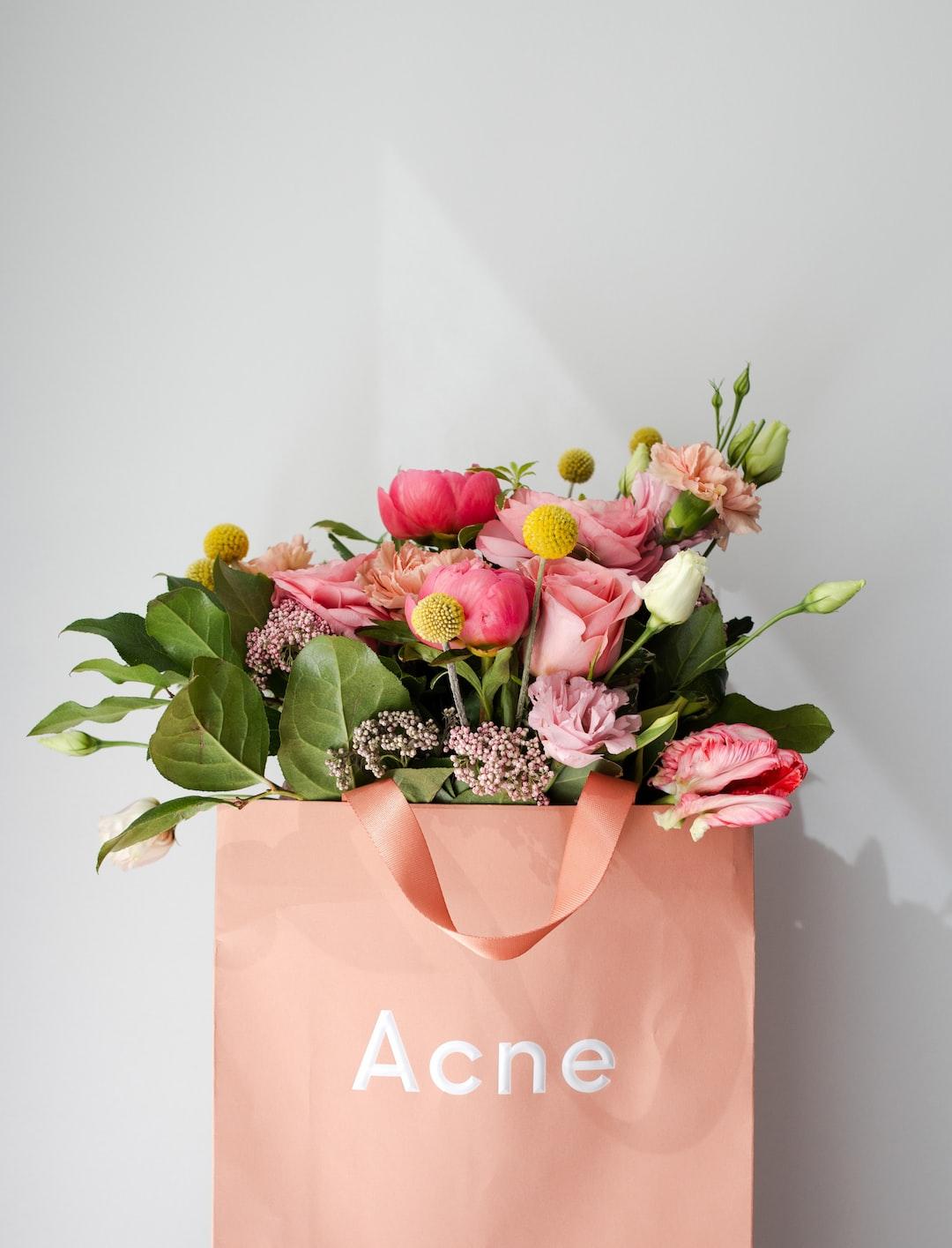 Acne.   Flowers by Capital Florist Ottawa.