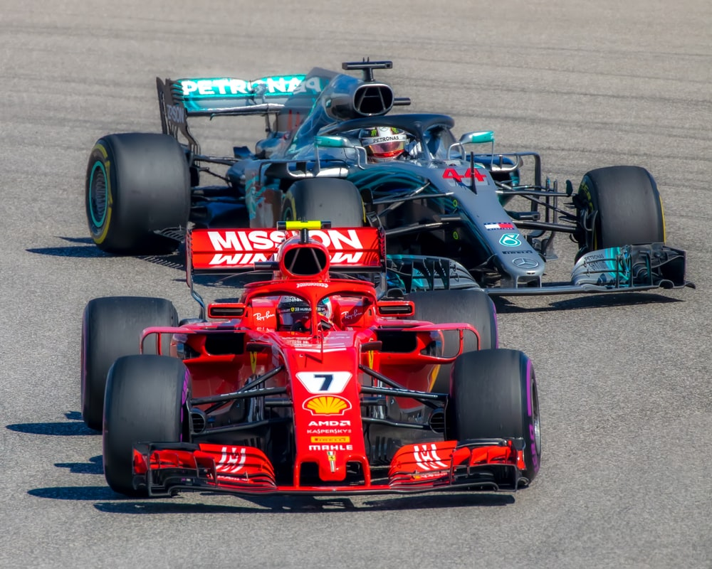 red and black formula 1