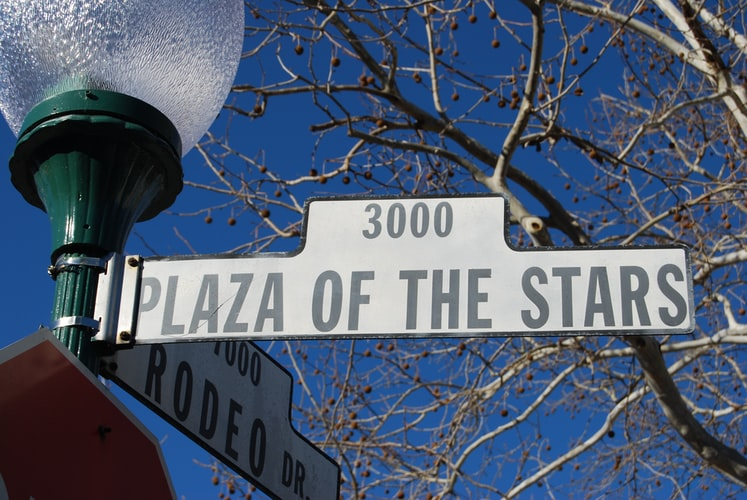 Street sign of Plaza of the Stars