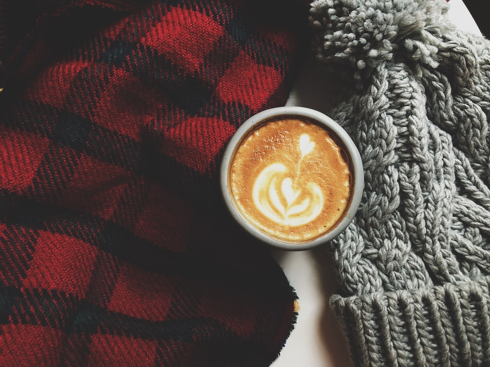 cappuccino in white ceramic mug