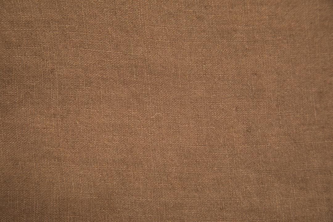 brown fabric texture close up