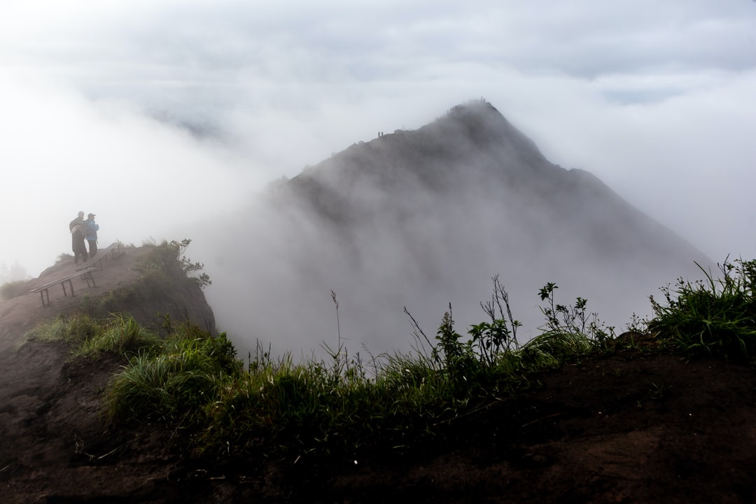 dawn fog on Mount Batur
