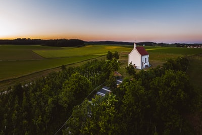Die Salzberg Kapelle in der blauen Stunde