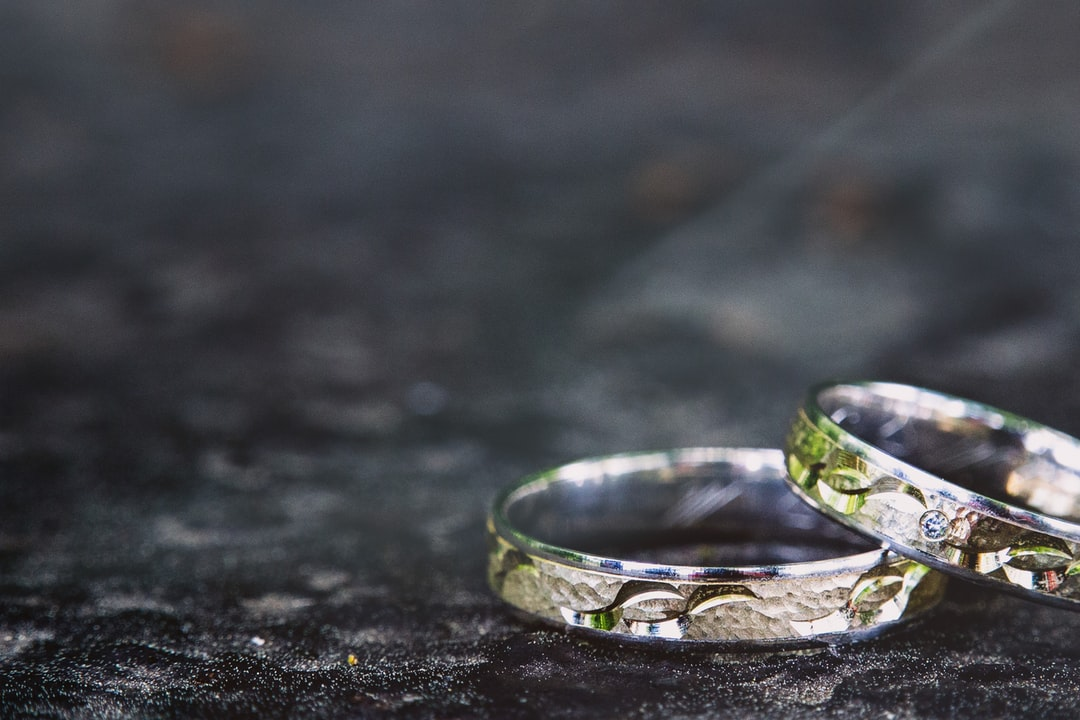 Wedding rings as a partial shot