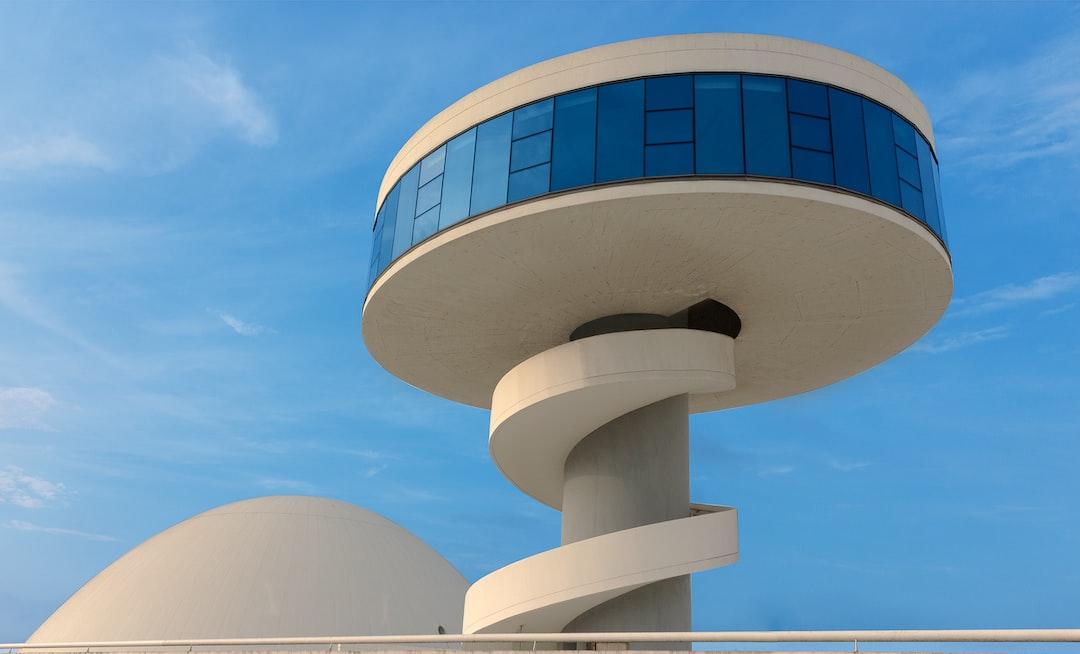 Edificio Niemeyer situado en Aviles