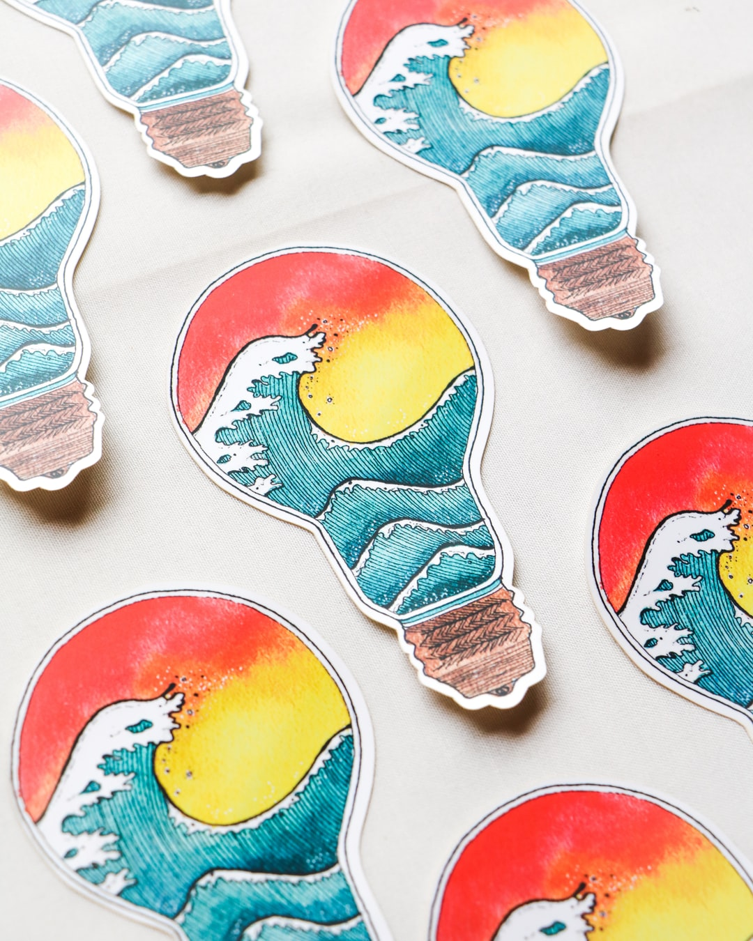 Watercolour Art Vinyl Stickers by Stationery Hoe