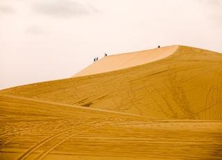 人走在沙丘