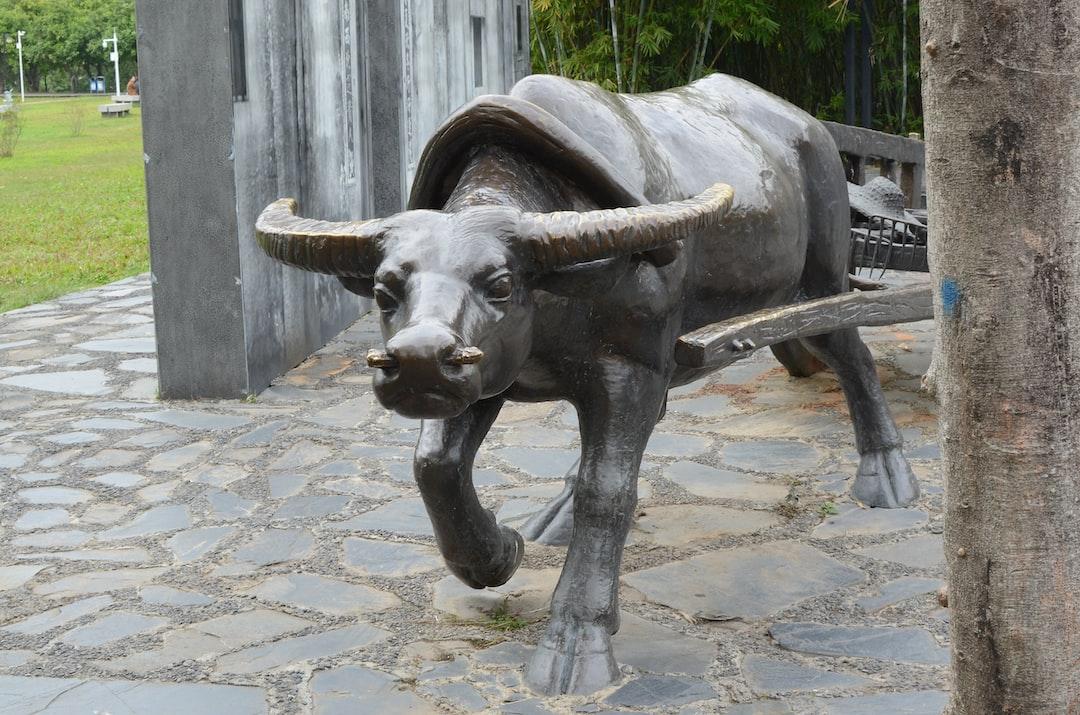 Copper Cattle Statue