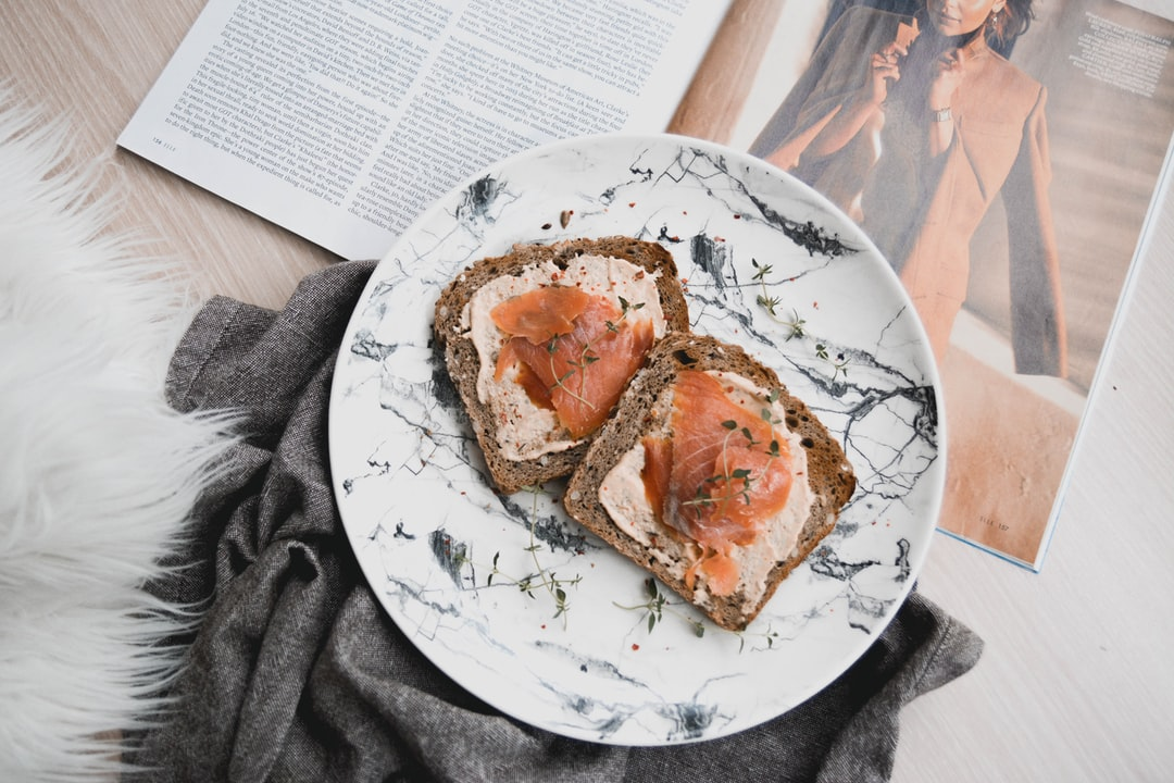 Salmon Slices On Toast For Breakfast - unsplash