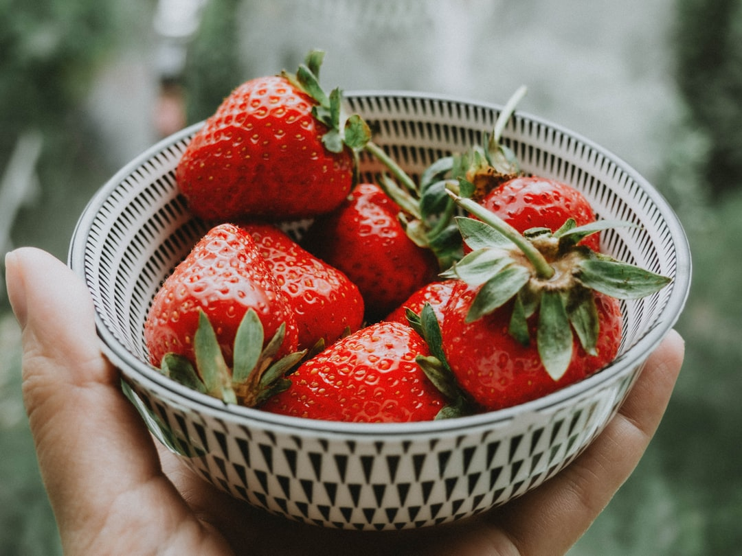 Strawberries In White Ceramic Bowl - unsplash