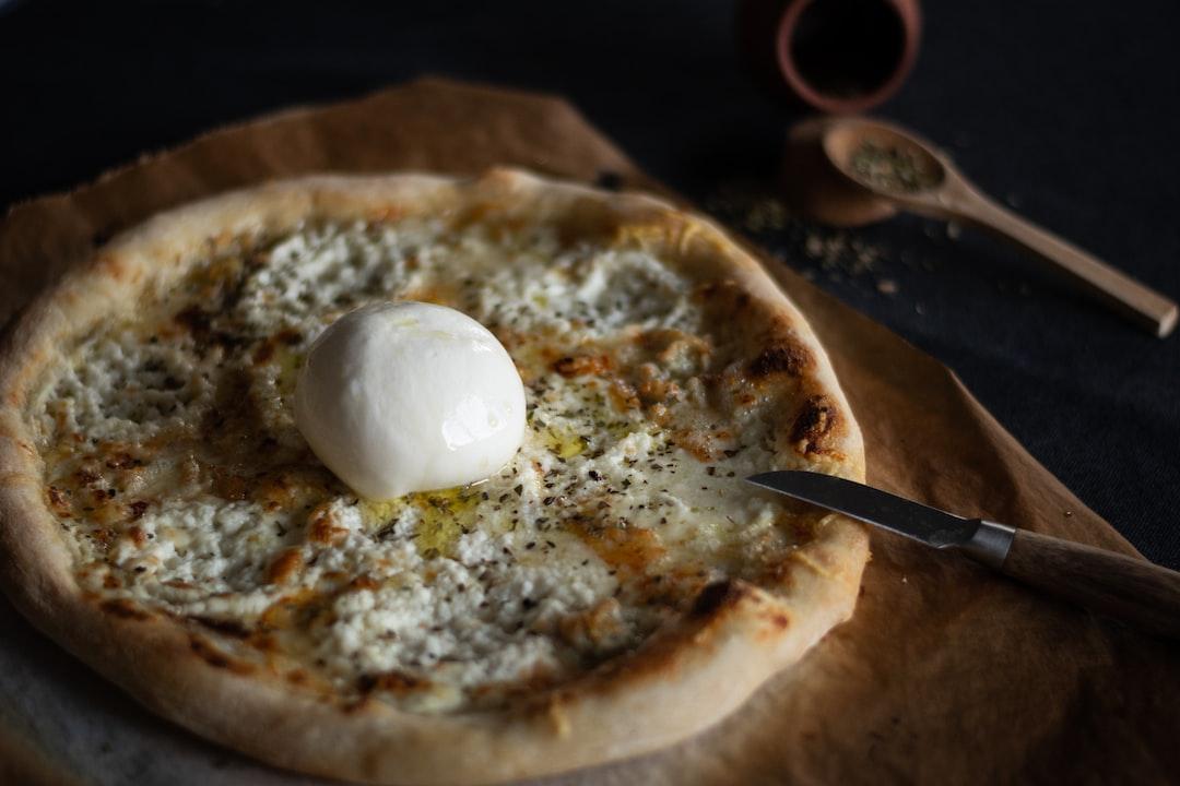 Homemade Neapolitan pizza. Cheese pizza.