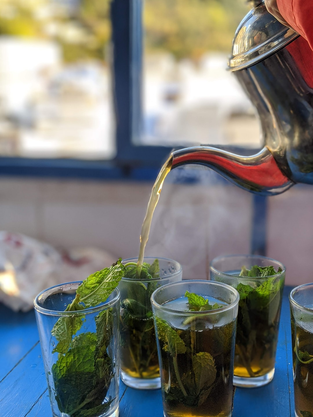 Moroccan mint tea in Chefchaouen