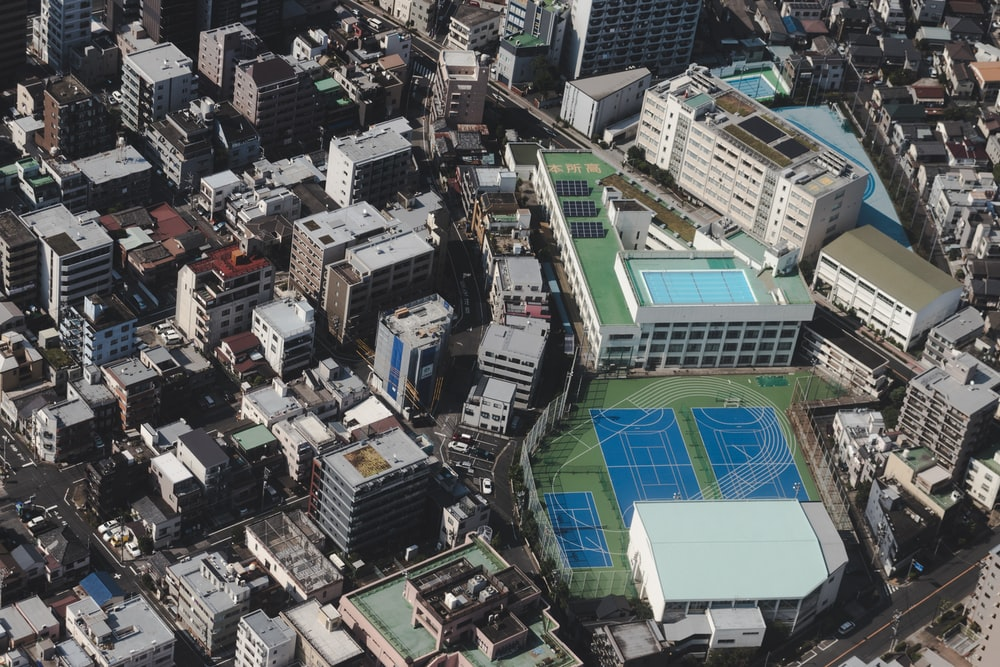 aerial view of city buildings during daytime