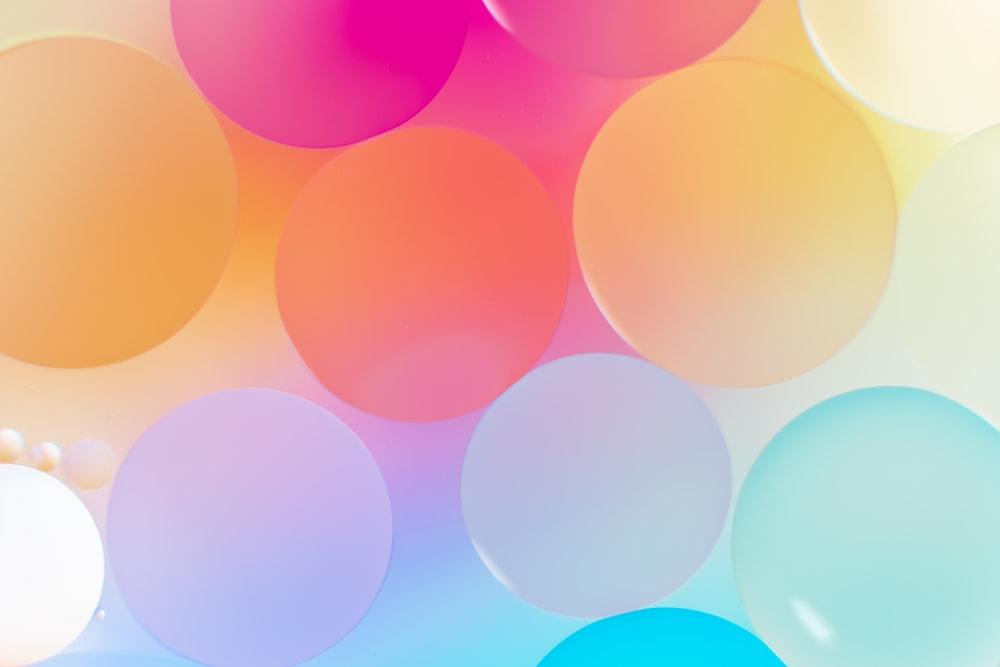 pink and blue polka dot illustration