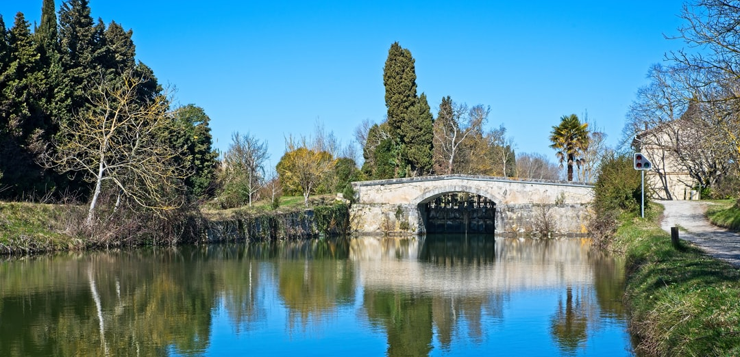 canal du Midi, in the Aude, France