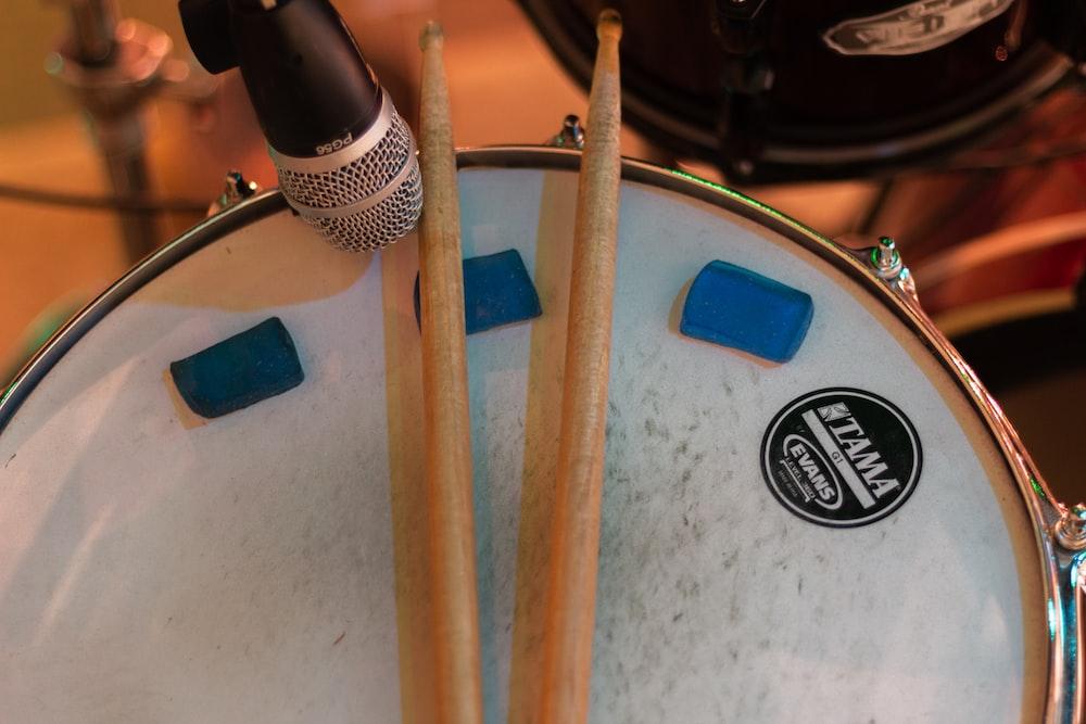 drum sticks on drum sticks