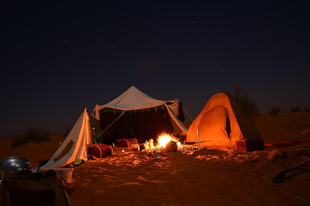 sleeping in the great desert