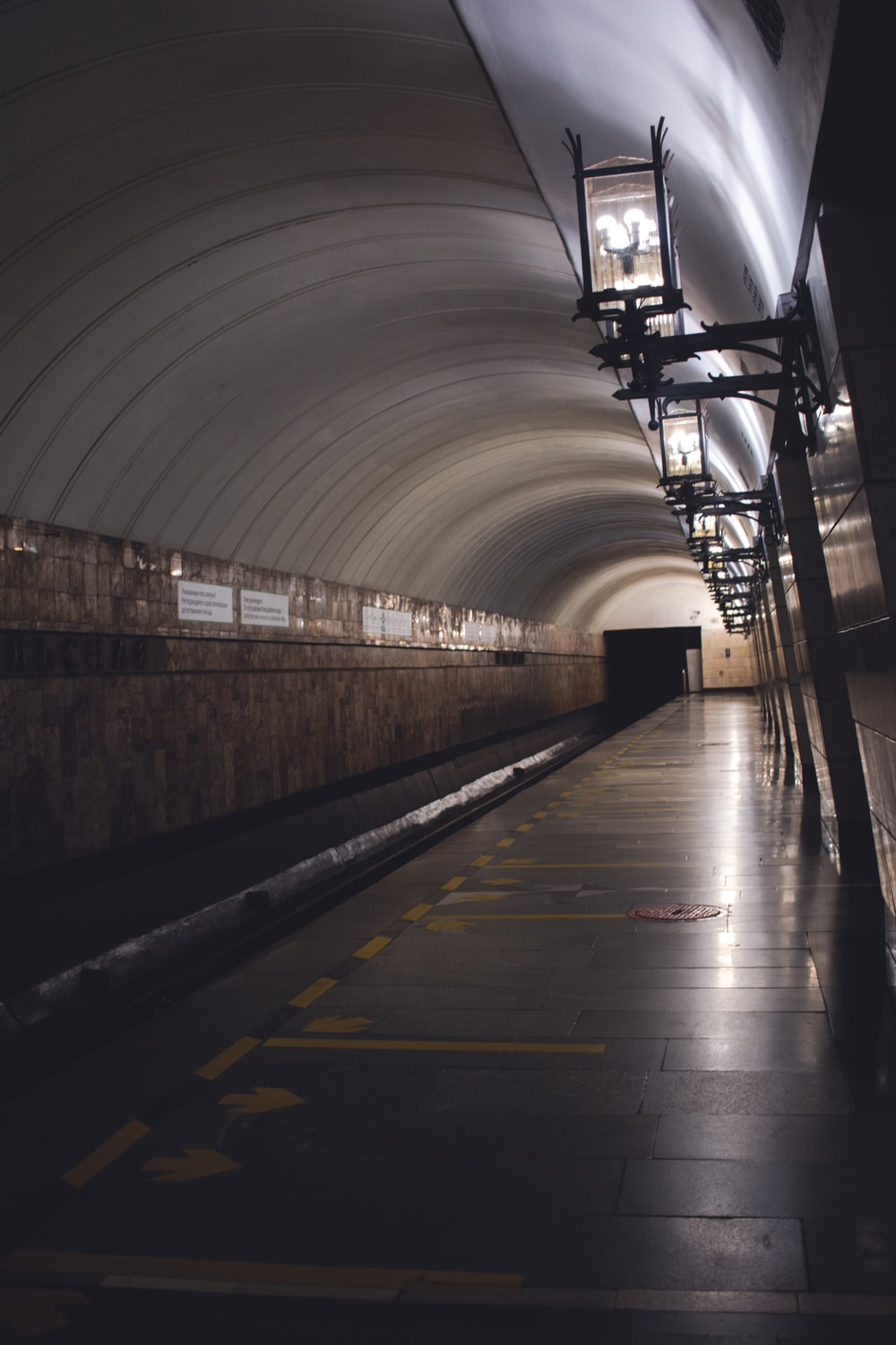 tunnel with lights turned on during daytime