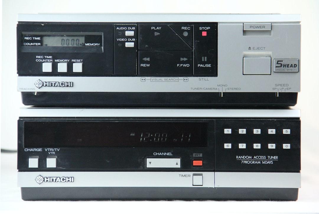 Retro gadget tape recorder VCR