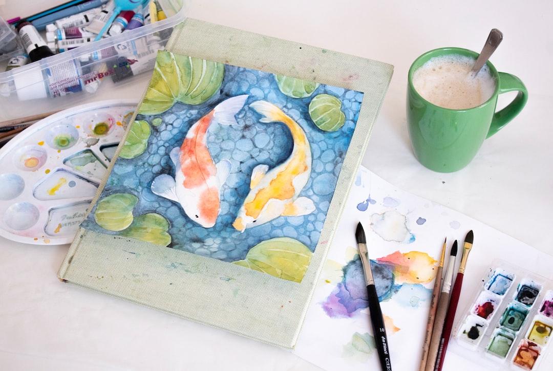 koi fish painted in watercolor