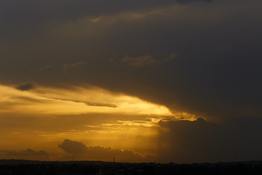 Sunsets after a stormy afternoon.