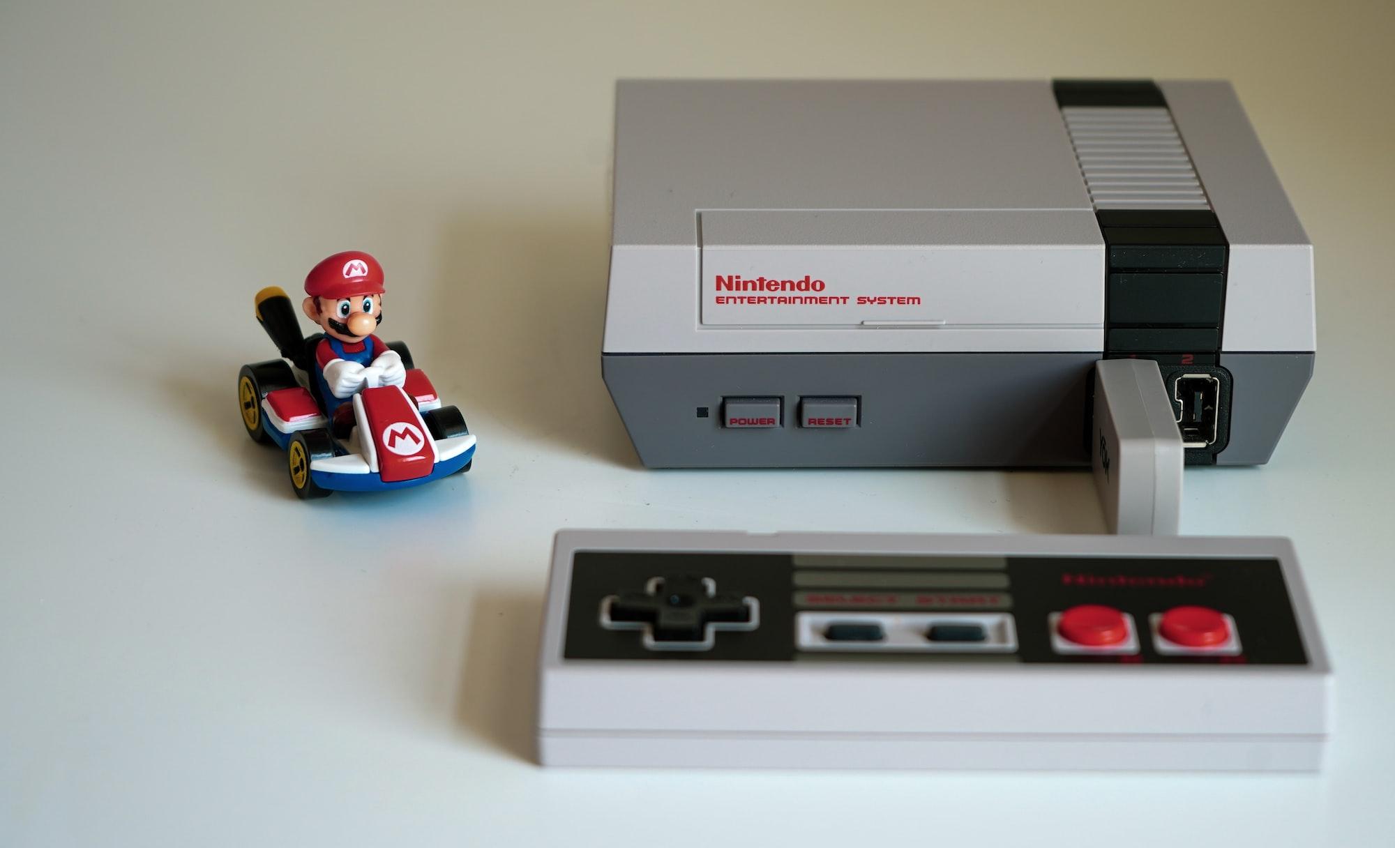 NES - Mini with Mario Kart (Side View)