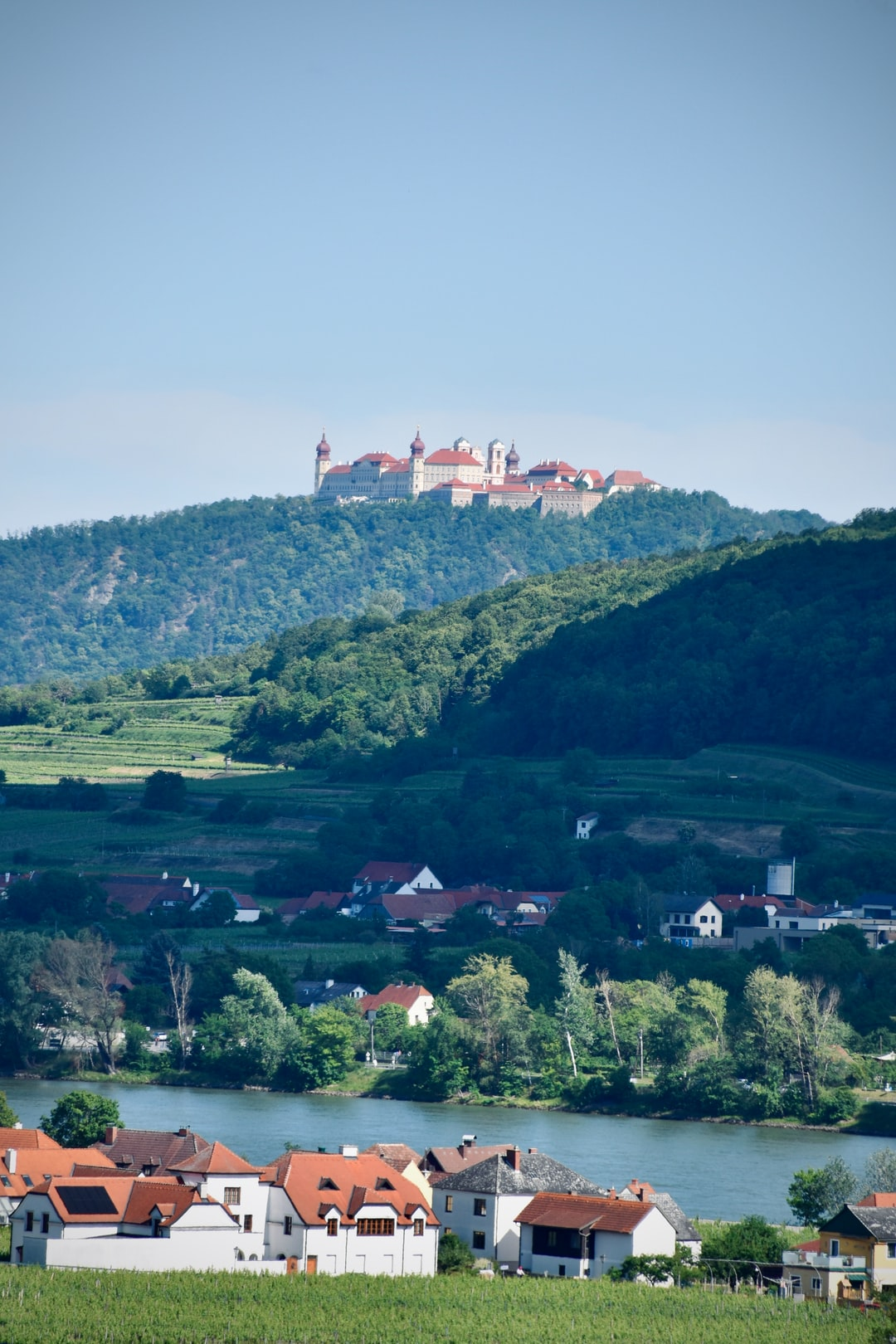 The monastery Stift Göttweig sitting over the Danube river. Good visualisation of the ancient power of monasteries as beholders, keepers and  producers of knowledge and wisdom.