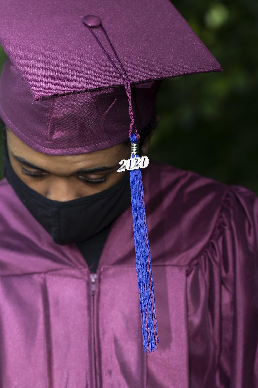 woman in purple academic dress