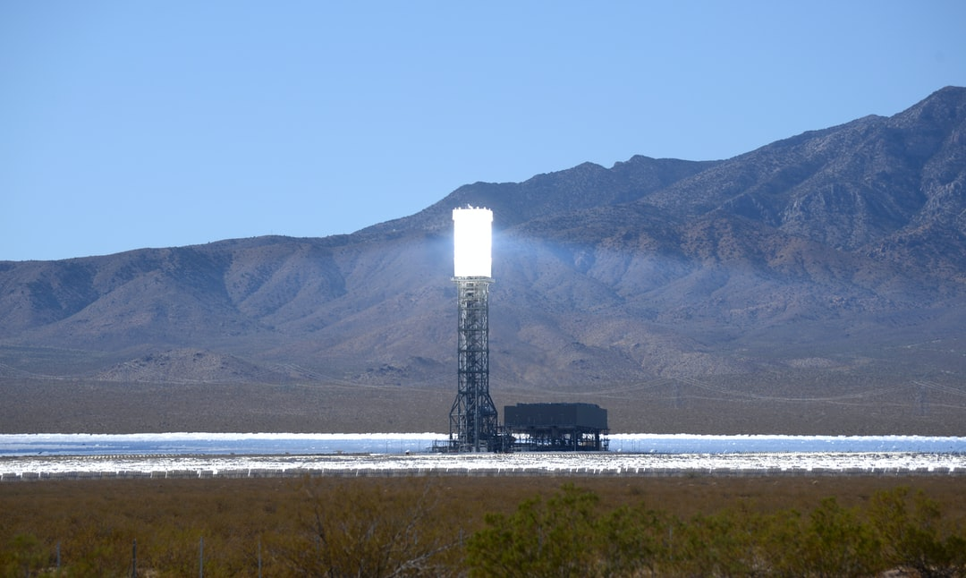 The Ivanpah Solar Power Facility is a concentrated solar thermal plant in the Mojave Desert near the California-Nevada border. Acres of heliostat mirrors direct sunlight onto receivers located in the 3 centralized solar towers. The receivers generate steam to drive turbines and generate power.  When it opened in 2014, Ivanpah was the world's largest solar thermal power station. Last year (2019) it produced 772,214 MWh of electricity.