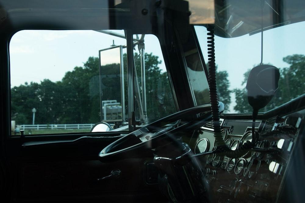 black car interior during daytime