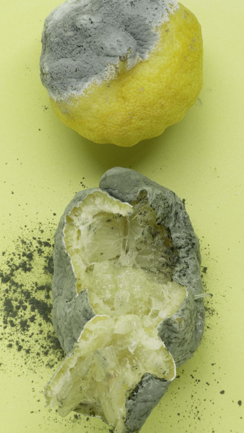 yellow lemon on white table