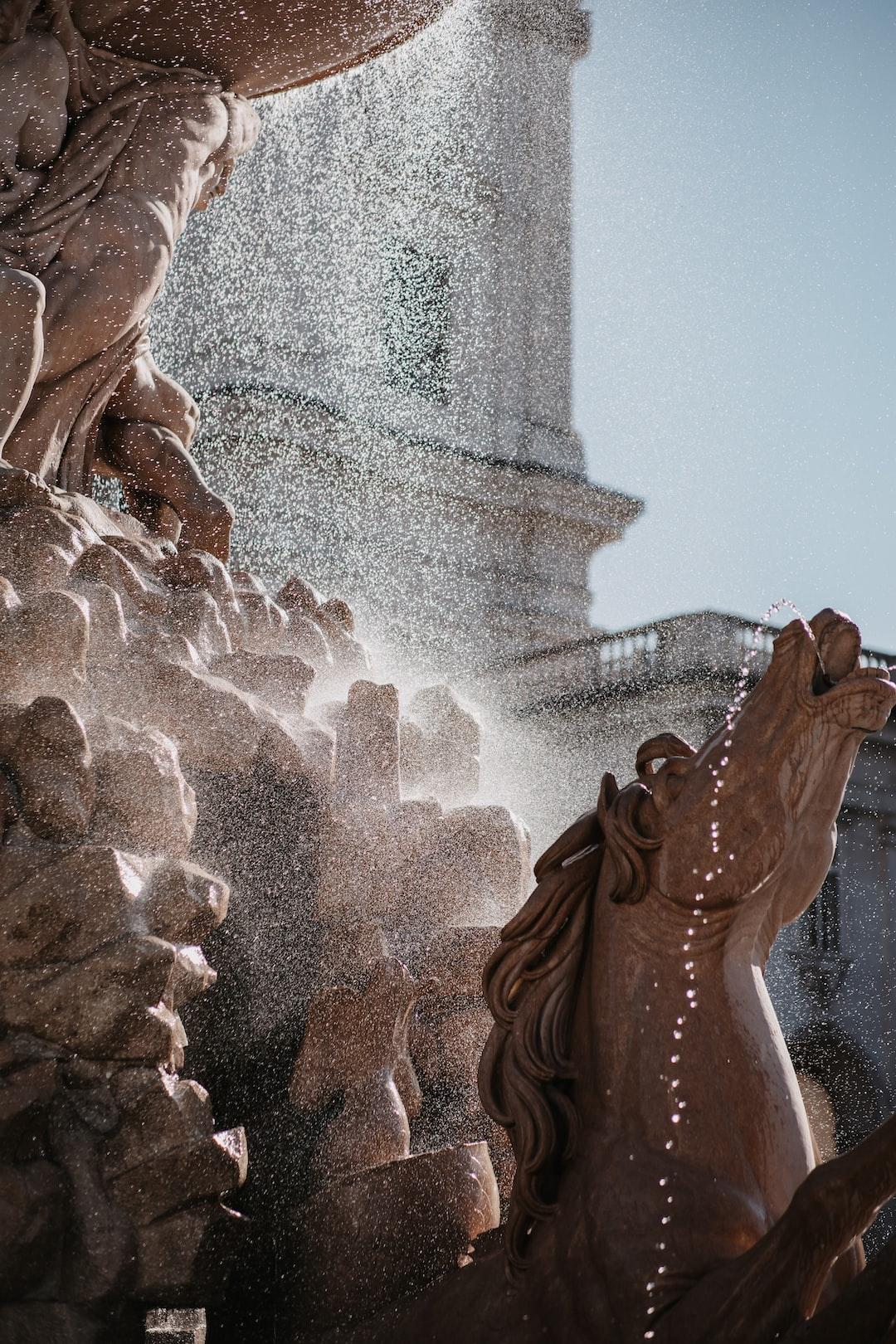 Residenzbrunnen in Salzburg Austria