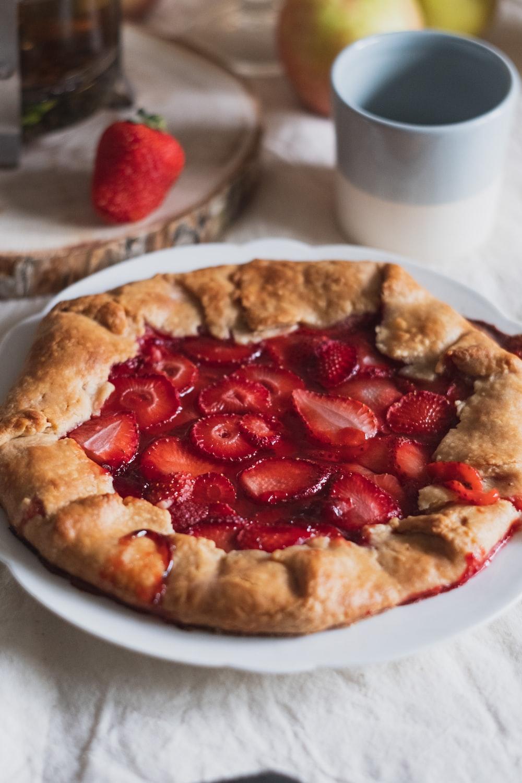 pie on white ceramic plate